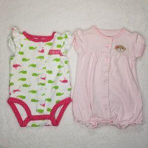 Carter's | Baby Girl Infant Rompers Set